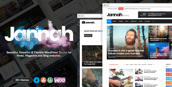 Best wordpress news theme - Jannah: